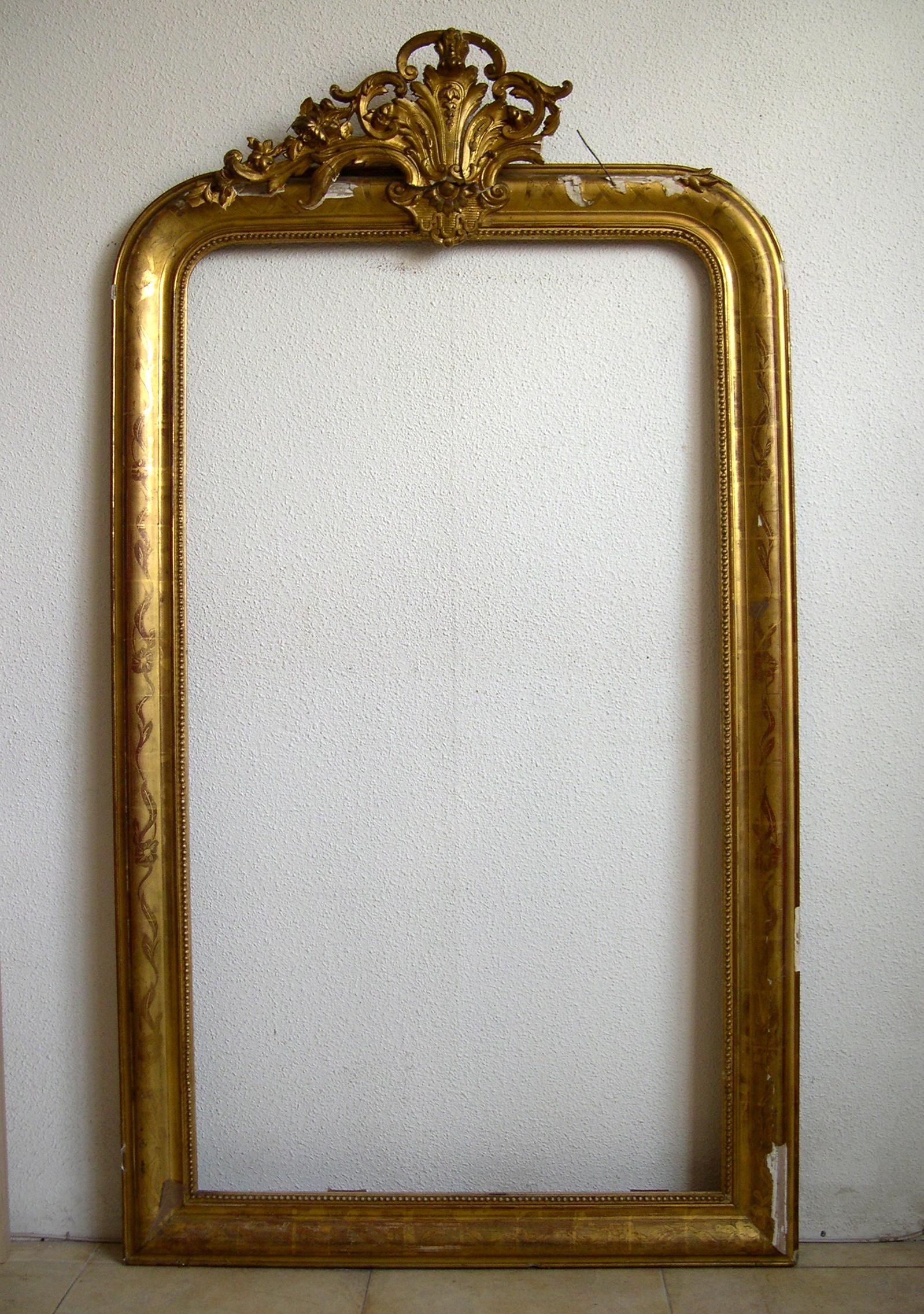 Marco dorado con espejo marco dorado de espejo antes de la for Espejo marco dorado