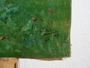 Paisaje con figuras-Detalle de la firma