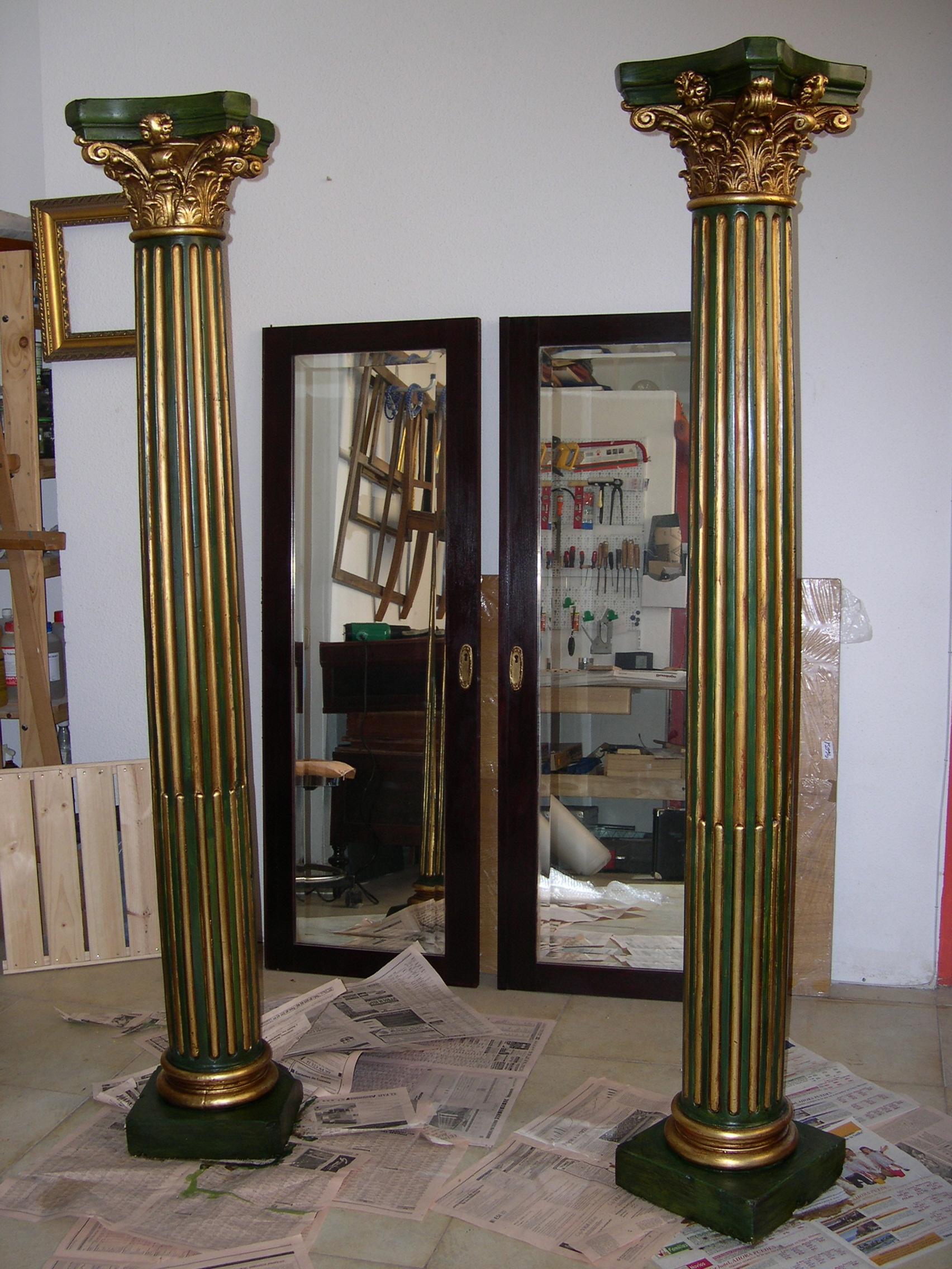 Decoraci n de columnas y molduras pictures to pin on pinterest - Columnas decoracion interiores ...